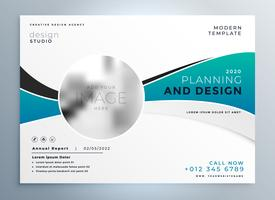 modern business presentation cover brochure template