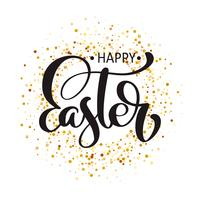 """Happy Easter"" Hand drawn calligraphy text"