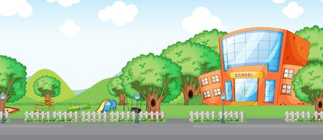 A school building background vector