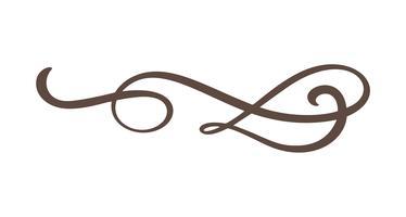Vintage line elegant divider,  swirl, & corner decorative flourish