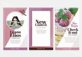 Modèles d'histoires vectorielles Instagram