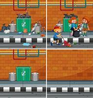 Un set di elementi Streetside