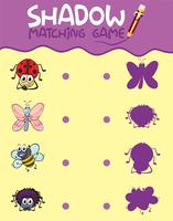 Insect shadow matching game template