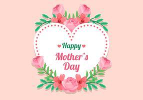 Cornice floreale della festa della mamma