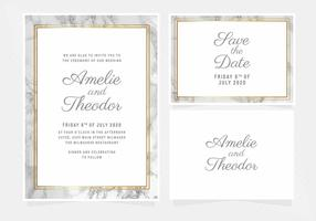 Vector Marble Wedding Invitation