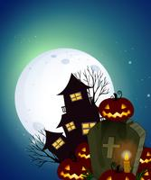 A dark halloween night vector