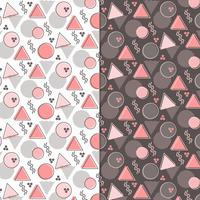 Vector Memphis Style Seamless Patterns