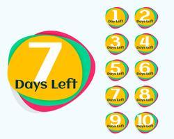 antal dagar kvar reklam banner eller klistermärke