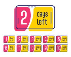 number of days left promotional label banner