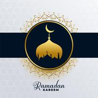 islamic ramadan kareem golden mosque background