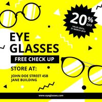 Eye Glasses Digital Promotion Template