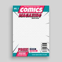 comic magazine cover page template