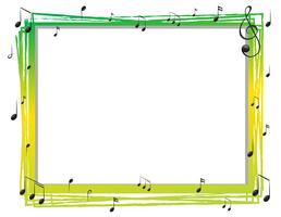 Border template with musicnotes