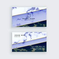 stylish blue marble business card design