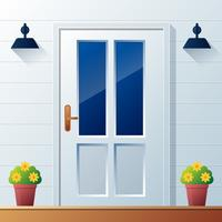 Front Door Background Vector Illustration