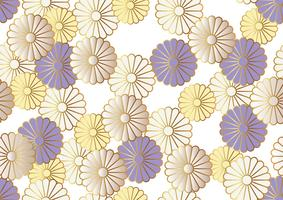 Seamless chrysanthemum pattern.