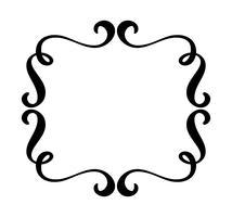 Vintage bloeien vector frame