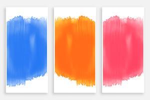 set di banner acquerello colorato