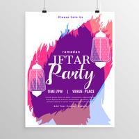 plantilla abstracta de la invitación del partido de iftar