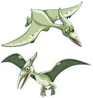 Pterossauro voando no céu