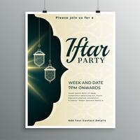 Plantilla de invitación elegante para la fiesta de iftar
