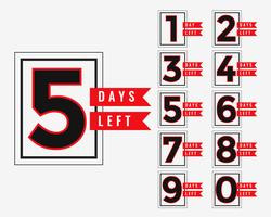 promotional banner of number of days left