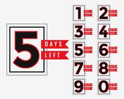 reclamebanner van het aantal resterende dagen