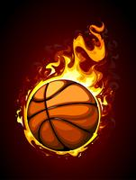 Baloncesto ardiente vector