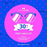 Modèle de promotion de lunettes