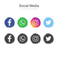 Social Media logo collection vector