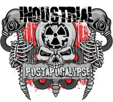 industrial emblem with skull
