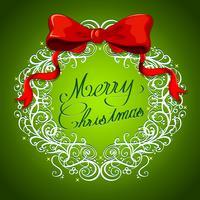 Tema de Navidad con wreth y cinta