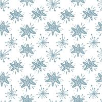 Christmas vector star seamless pattern in Scandinavian style. Best for pillow, typography design, curtains