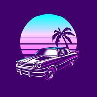 Retro Classic Car Illustration