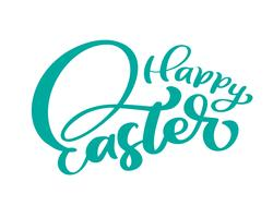 """Happy Easter"" Hand drawn brush pen isolated lettering"