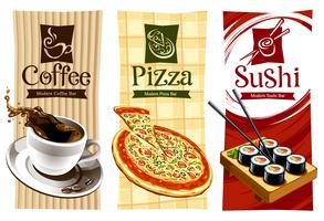 Projetos de modelo de banners de comida