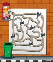 Kinder finden den Weg zum Abfalleimer