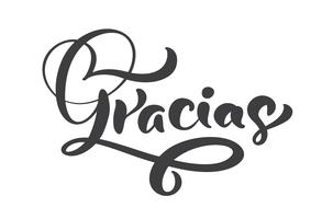 """Gracias"" inscription manuscrite"
