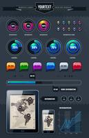 Vector conjunto de elementos de infografía