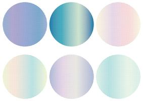 Round background set with dot pattern.