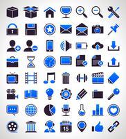 Un insieme di vettore di 56 icone universali semplici