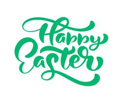 "Green ""Happy Easter"" handwritten lettering"