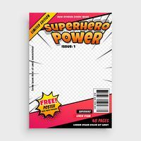 super-héros de bande dessinée magazine page de couverture