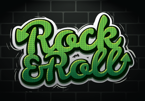Rock And Roll Graffiti Design vector