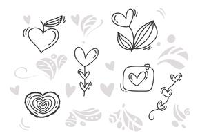 Monoline Valentine's Day Hand Drawn elements