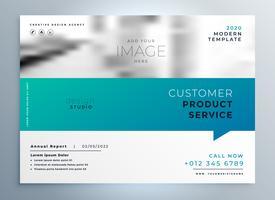 modello di presentazione brochure elegante blu business