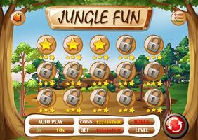 Een jungle leuke sjabloon