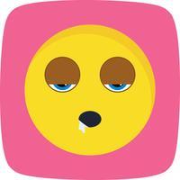 Sleep Emoji Vector Icon