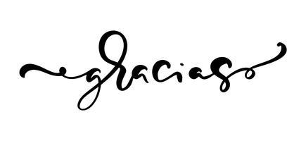 """Gracias"" letras escritas a mano"