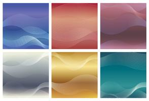 Square background set with wavy patterns. vector